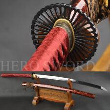 Handmade Clay Tempered T1095 Steel Japanese samurai Katana Sword Full Tang saber
