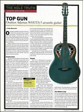 Ovation Adamas W681 TA-5 acoustic guitar 8 x 11 sound check review article print