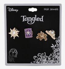 Disney Tangled Rapunzel Bejeweled Bling Gems Spiral Hair Jewels 4 Pack NWT!