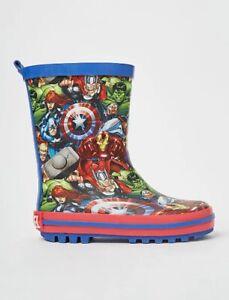 Marvel Avengers Boy Wellies Size 6 Junior Wellington Boots Brand NEW