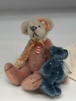 AMELIA and Baby Blue Bear by DEB CANHAM for Little Gem Teddy Bear 3""