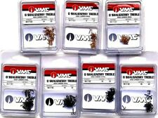 VMC High Carbon Steel Treble Fishing Hooks Choice of Color & Size (One Package)