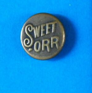 Bb textured SWEET - ORR Antique Wobble Shank Overall BUTTON small