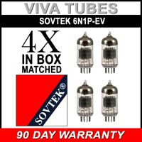 Brand New Gain Matched Quad (4) Sovtek 6N1P / 6N1-P-EV Vacuum Tubes
