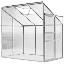 Aluminium Frame Lean to Greenhouse Garden Wall Patio Walk In Top Window 1.9x1.2m