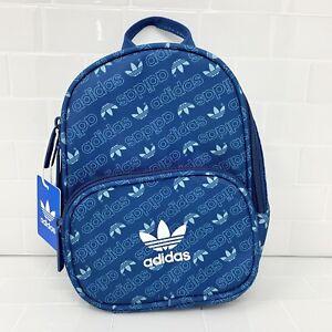 adidas Originals Trefoil Monogram Santiago Mini Backpack Teal - $30