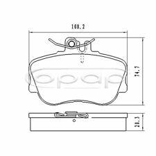 Bremsbelagsatz, Vorderachse für Mercedes C-Klasse W202 S202 BJ 93-01, BB08059