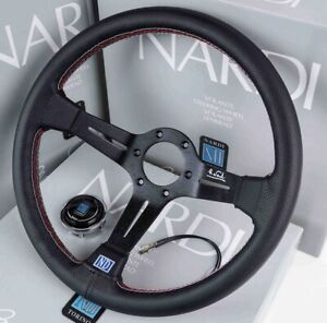 350mm Dish Steering Wheel - Fit 6 hole Hub Like Vertex Nardi Momo Sparco NRG
