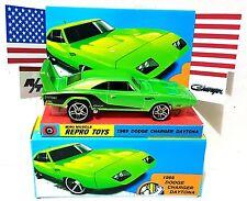 Hot Wheels 1969 DODGE CHARGER DAYTONA Model Muscle Car in custom Box & Display