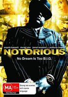Notorious * NEW DVD (Notorious B.I.G. story) Biggie Smalls (Region 4 Australia)
