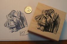 Alice in wonderland little door rubber stamp P13