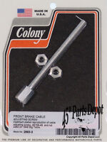 Harley 49 Panhead Front Brake Cable Adjusting Screw Cad Plated Colony 2883-3