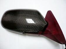 REAL 3D GLOSSY CARBON FIBER SIDE MIRROR COVER CAP CELICA ST202 ST204 ST205 JDM
