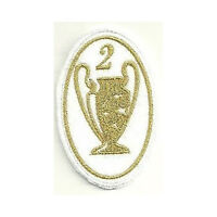 [Patch] CHAMPIONS LEAGUE 2 versione oro cm 5 x 7,5 toppa REPLICA ricamo -166