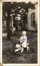 1920s Toddler Child Riding Sit-N-Ride Style Wood Dog Shaped Scooter Toy Photo