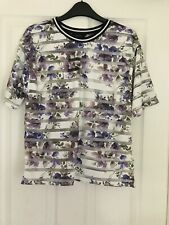 New Look Size 10 Floral Short Sleeve Top