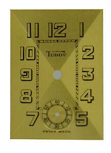 "VERY EARLY VINTAGE Original NOS Rolex Tudor ""Long T"" Wristwatch Dial, Swiss 1932"