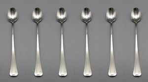 Oneida Stainless DISTINCTION / FIRESIDE  Iced Beverage Spoons - Set of Six * USA