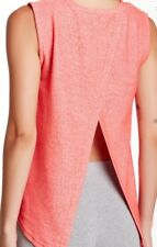 Reflex -90 Degree Athletic Top Drape Open Back Womens Size S Neon Coral NWOT $38