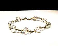 Silver Aurora Borealis Glass Cystal Bracelet