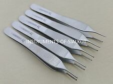 Dental Adson Tissue Kocher Rat Tooth 1x2 Forceps 5 Pieces Surgical Instruments