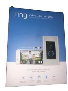 Brand New And Sealed Ring Video Doorbell Elite 1080p HD Silver