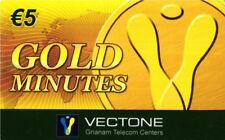 3466 SCHEDA TELEFONICA INTERNAZIONALE USATA GOLD MINUTES VECTONE 5 05/2005