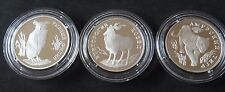RUSSIA 3 X 1 RUBLE 1993 SILVER PROOF IN CAPSULE RED BOOK RARE COINS
