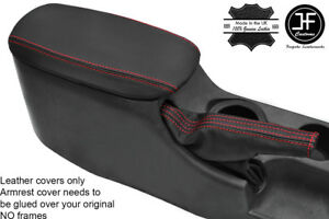 RED STITCH REAL LEATHER E BRAKE BOOT & ARMREST COVER FOR FORD MUSTANG 94-04