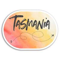 2 x 10cm Tasmania Vinyl Stickers - Pretty Travel Sticker Laptop Luggage #18633