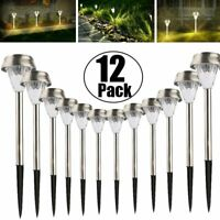 Solar Power Pathway Lights Outdoor Garden Landscape LED Pathway Lawn Lamp