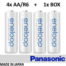 4x Sanyo Eneloop - AA R6 2000 mAh HR-3UTGB + 1x BOX - BATTERIES