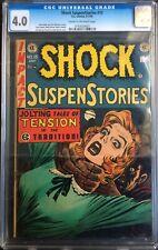 Shock SuspenStories #15 1954 Strangulation EC Comics Horror CGC 4.0 0793929003