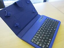 "Blue Bluetooth Keyboard Laptop Angle Case Stand 4 BlackBerry PlayBook 7"" Tablet"