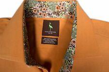 $175 Taylor Byrd Orange Dress Shirt size 17 x 37 S052