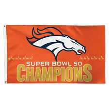 DENVER BRONCOS SUPER BOWL 50 CHAMPIONS 3'X5' DELUXE FLAG BRAND NEW WINCRAFT