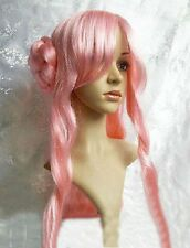 Code Geass Dark Long Curly Cosplay Wig Buns Euphemia UK
