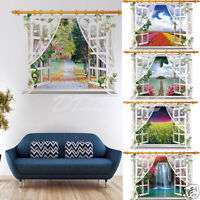 3D Window View Removable Wall Sticker Art Vinyl Decal Mural Landscape Home Decor