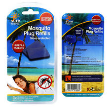 Sure Travel Insect Mosquito Bug Repellent Plug Refill Tablets - 18 Pack