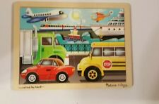 Melissa and Doug 12 Piece Chidrens  Wooden Puzzles on the Go