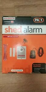 Garden shed wired alarm.