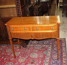 Beautiful English Antique Edwardian Burl Mahogany Sideboard / Server.