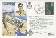 HA28 Gp.Capt G.Burges cover Signed Gp.Capt G.Burges WWII fighter Ace 7 Defence