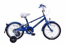"Bobbin Sparrow Kids Boys Girls 16"" Wheel Retro Mixte Frame 60's Style Bike Blue"