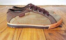 KEEN LW1211 Womens Oxford platform Canvas Sneaker Shoes leather trim sz 4