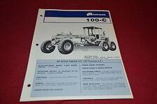 Fiat Allis Chalmers 100-C Motor Grader Dealer's Brochure DCPA2