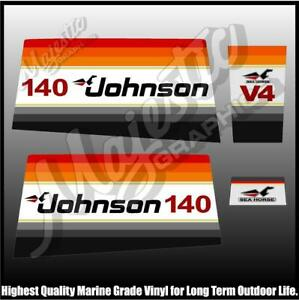 Johnson - 140hp Seahorse - OUTBOARD DECALS