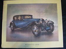 Art Print Bugatti 1930 (printed around 1965) (JS) #1