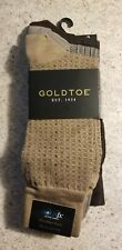 Men's Gold Toe Fashion 3-Pack Socks (shades of brown) - brand new