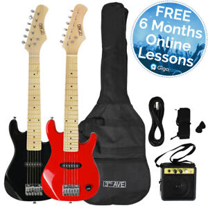 3rd Avenue Junior Electric Guitar Pack with Amp - Black or Red